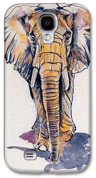 Elephant In Gold Galaxy S4 Case by Kovacs Anna Brigitta