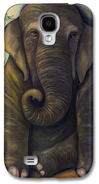 Ancient Paintings Galaxy S4 Cases - Elephant In The Room Galaxy S4 Case by Leah Saulnier The Painting Maniac