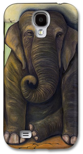 Bizarre Galaxy S4 Cases - Elephant In The Room Galaxy S4 Case by Leah Saulnier The Painting Maniac