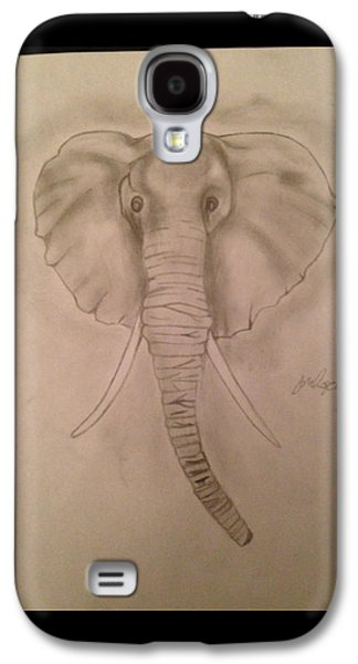 Etc. Drawings Galaxy S4 Cases - Elephant Galaxy S4 Case by  Jessica Hope