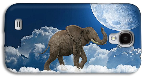 Animal Galaxy S4 Cases - Elephant On Cloud 9 Galaxy S4 Case by Marvin Blaine