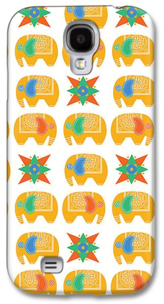 Elephant Print Galaxy S4 Case by Susan Claire