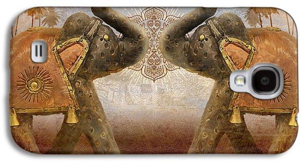 Tusk Galaxy S4 Cases - Elephants I Galaxy S4 Case by April Moen