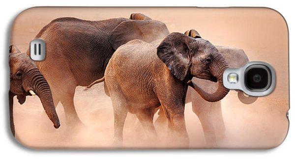 Reserve Galaxy S4 Cases - Elephants in dust Galaxy S4 Case by Johan Swanepoel