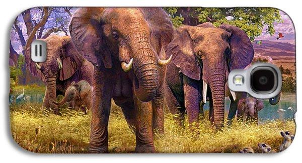 Elephants Galaxy S4 Case by Jan Patrik Krasny