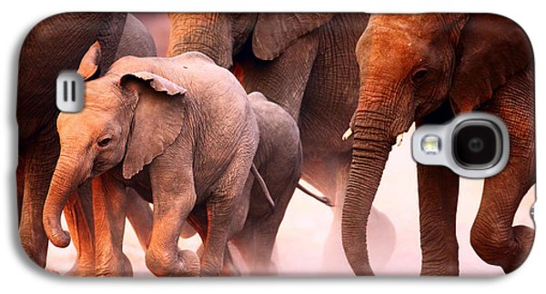 Reserve Galaxy S4 Cases - Elephants stampede Galaxy S4 Case by Johan Swanepoel