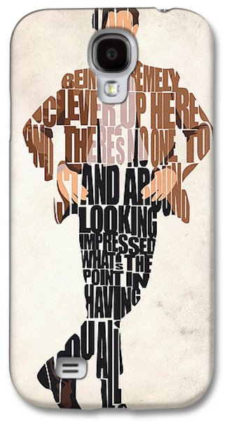 Wall Decor Galaxy S4 Cases - Eleventh Doctor - Doctor Who Galaxy S4 Case by Ayse Deniz