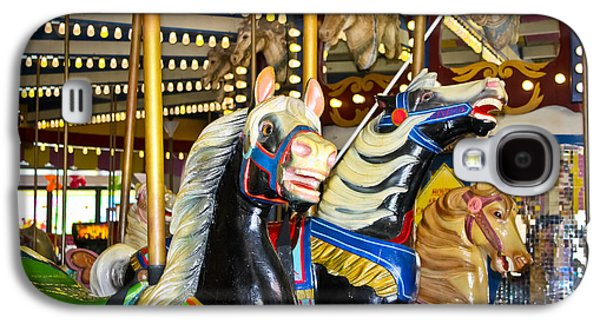 Elizabeth And Friends- Carousel Ponies Galaxy S4 Case by Colleen Kammerer