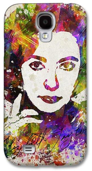 Elizabeth Galaxy S4 Cases - Elizabeth Taylor in Color Galaxy S4 Case by Aged Pixel