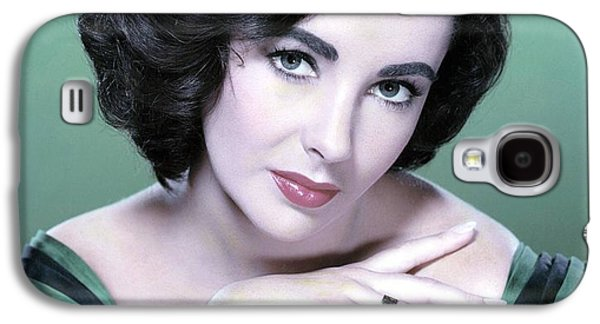Headshot Galaxy S4 Cases - Elizabeth Taylor in Green Galaxy S4 Case by Nomad Art And  Design