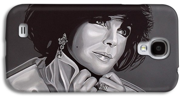 Actors Paintings Galaxy S4 Cases - Elizabeth Taylor Galaxy S4 Case by Paul Meijering