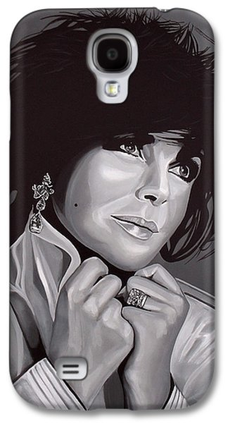Black And White Art Galaxy S4 Cases - Elizabeth Taylor Galaxy S4 Case by Paul Meijering
