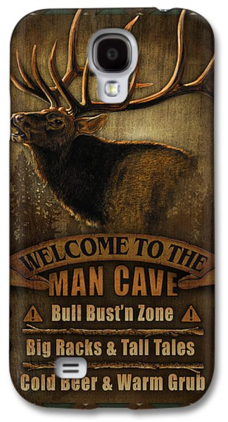 Elk Man Cave Sign Galaxy S4 Case by JQ Licensing