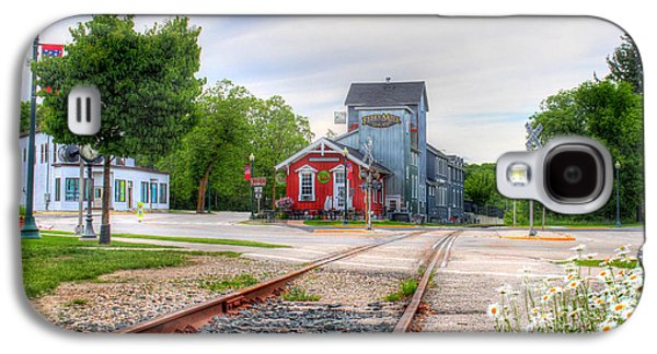 Feed Mill Galaxy S4 Cases - Elkhart Lake Off the Rail and Feed Mill Market Galaxy S4 Case by Brook Burling