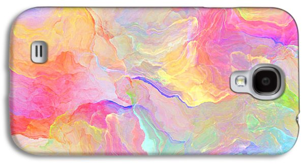 Colorful Abstract Digital Galaxy S4 Cases - Eloquence - Abstract Art Galaxy S4 Case by Jaison Cianelli
