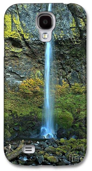 Elowah Falls Portrait Galaxy S4 Case by Adam Jewell