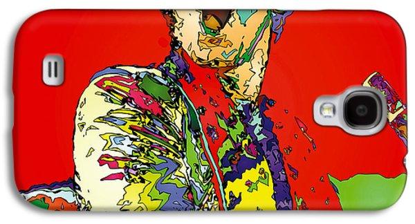 Elton John Galaxy S4 Cases - Elton in Red Galaxy S4 Case by John Farr