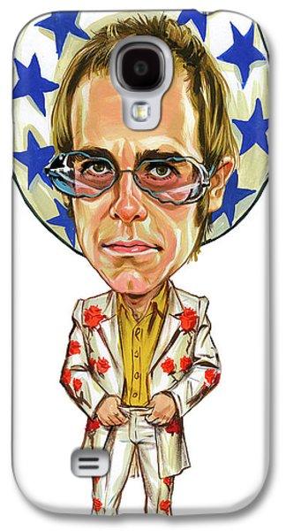 Elton John Photographs Galaxy S4 Cases - Elton John Galaxy S4 Case by Art