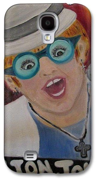 Elton John Paintings Galaxy S4 Cases - Elton John Galaxy S4 Case by Debby Reid