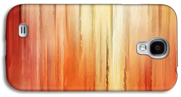 Sunset Abstract Paintings Galaxy S4 Cases - Elusive View Galaxy S4 Case by Lourry Legarde