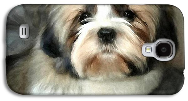 Puppies Digital Art Galaxy S4 Cases - Elvis Galaxy S4 Case by Gun Legler