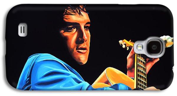 Elvis Presley 2 Painting Galaxy S4 Case by Paul Meijering