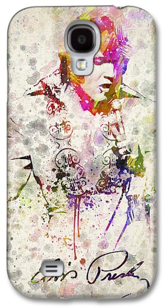 Grunge Galaxy S4 Cases - Elvis Presley Galaxy S4 Case by Aged Pixel
