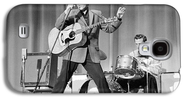 Elvis Presley And D.j. Fontana Performing In 1956 Galaxy S4 Case by The Harrington Collection