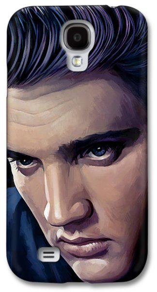 Elvis Presley Galaxy S4 Cases - Elvis Presley Artwork 2 Galaxy S4 Case by Sheraz A