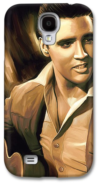 Elvis Presley Galaxy S4 Cases - Elvis Presley Artwork Galaxy S4 Case by Sheraz A