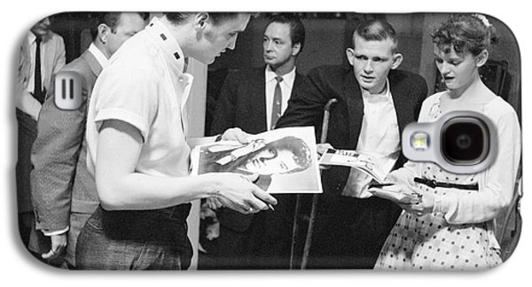 Autographed Galaxy S4 Cases - Elvis Presley Backstage Signing Autographs for Fans 1956 Galaxy S4 Case by The Phillip Harrington Collection