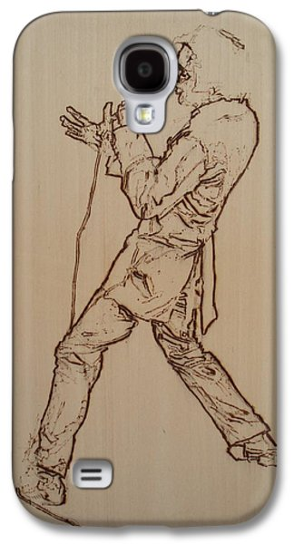 Music Pyrography Galaxy S4 Cases - Elvis Presley - If I Can Dream Galaxy S4 Case by Sean Connolly