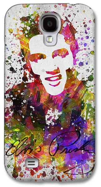 King Of Pop Galaxy S4 Cases - Elvis Presley in Color Galaxy S4 Case by Aged Pixel