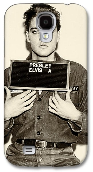Elvis Presley - Mugshot Galaxy S4 Case by Digital Reproductions