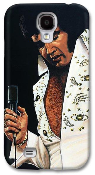 Elvis Presley Painting Galaxy S4 Case by Paul Meijering