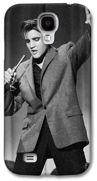 Person Galaxy S4 Cases - Elvis Presley performing in 1956 Galaxy S4 Case by The Phillip Harrington Collection