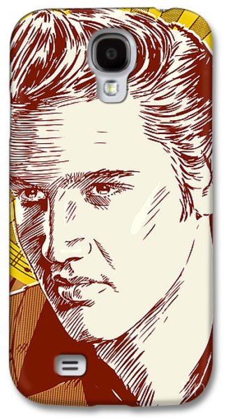 Elvis Presley Galaxy S4 Cases - Elvis Presley Pop Art Galaxy S4 Case by Jim Zahniser