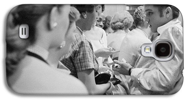Autographed Galaxy S4 Cases - Elvis Presley signing autographs at the Fox Theater 1956 Galaxy S4 Case by The Phillip Harrington Collection