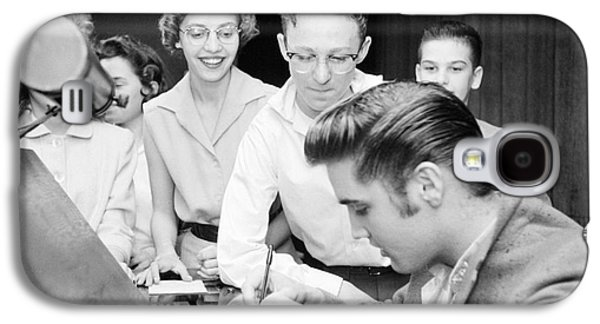 Autographed Galaxy S4 Cases - Elvis Presley Signing Autographs for Fans 1956 Galaxy S4 Case by The Phillip Harrington Collection