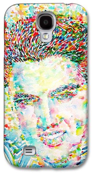 Elvis Presley Watercolor Portrait.1 Galaxy S4 Case by Fabrizio Cassetta