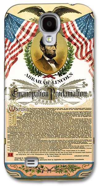 Proclamation Galaxy S4 Cases - Emancipation Proclamation Tribute 1888 Galaxy S4 Case by Daniel Hagerman