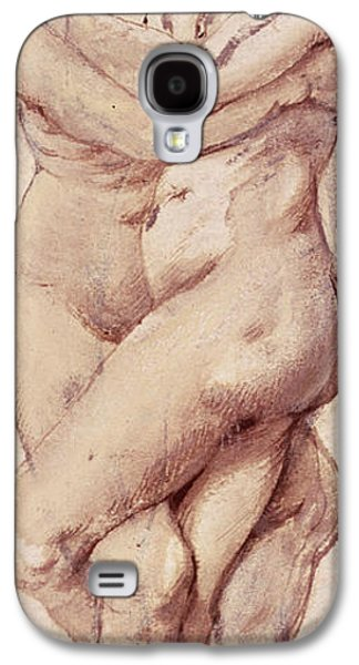 Lesbian Galaxy S4 Cases - Embracing Couple Galaxy S4 Case by Rubens