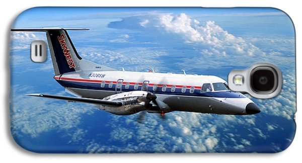 Fixed Wing Multi Engine Photographs Galaxy S4 Cases - Embraer EMB-120ER Braslia SkyWest  Galaxy S4 Case by Wernher Krutein