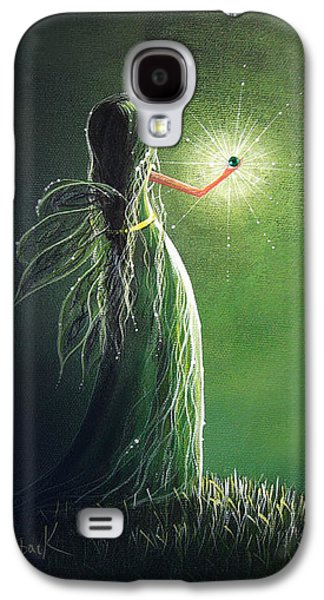 Dreamscape Galaxy S4 Cases - Emerald Fairy by Shawna Erback Galaxy S4 Case by Shawna Erback