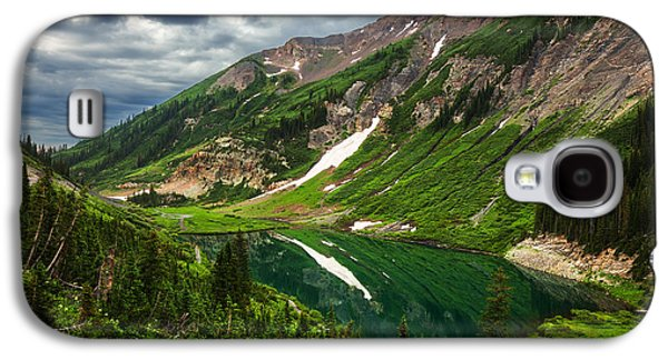 Landscape Acrylic Prints Galaxy S4 Cases - Emerald Morning Galaxy S4 Case by Darren  White