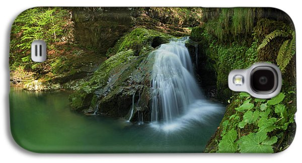 Landscapes Photographs Galaxy S4 Cases - Emerald waterfall Galaxy S4 Case by Davorin Mance