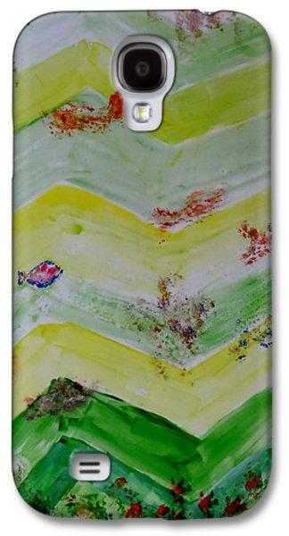 Alga Paintings Galaxy S4 Cases - Emergence of Life Galaxy S4 Case by Sonali Gangane