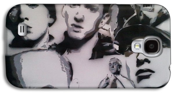 Eminem Paintings Galaxy S4 Cases - Eminem Galaxy S4 Case by Barry Boom