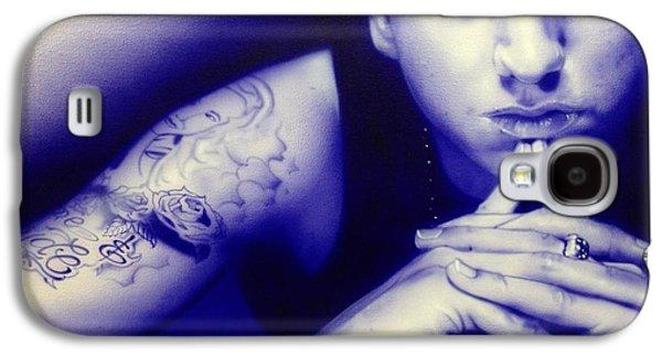Eminem Paintings Galaxy S4 Cases - Eminem Galaxy S4 Case by Christian Chapman Art
