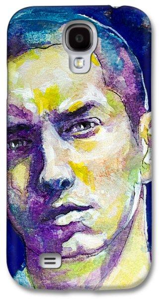 Eminem Paintings Galaxy S4 Cases - Eminem Galaxy S4 Case by Laur Iduc